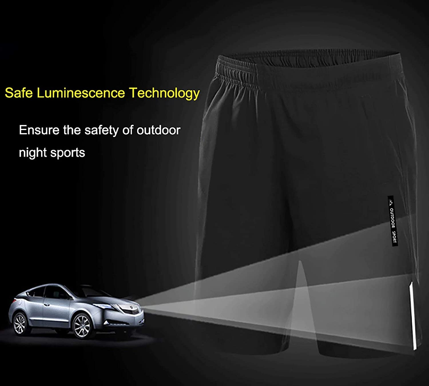 BIYLACLESEN Mens Workout Running Shorts with Zipper Pockets Quick Dry Lightweight Breathable Gym Shorts