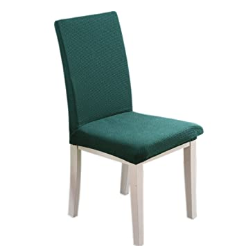 Knitted Chair Covers , Stretch Removable Washable Short Dining Chair  Protector Cover Slipcover (4,
