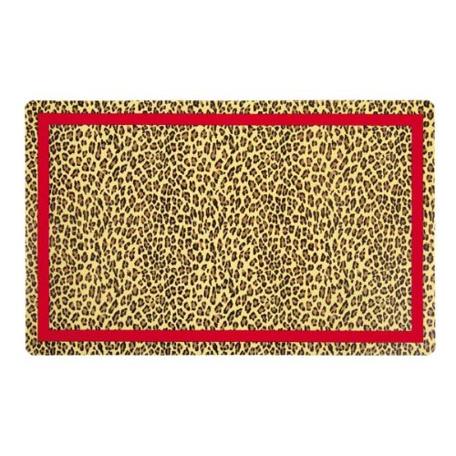 M. Isaac Mizrahi Polypropylene Leopard Placemat, 50-Pack