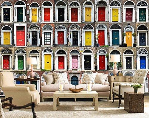 LWCX European home decor 3d wallpaper mural bedroom living room door 430X280CM by LWCX