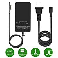 Surface Pro 3/Pro 4 Charger, HUNDA 44W 15V 2.58A Power Supply Compatible Microsoft Surface Pro 6 Pro 4 Pro 3 Surface Laptop 2 Surface Pro Surface Laptop Surface Go & Surface Book, with 6Ft Power Cord.