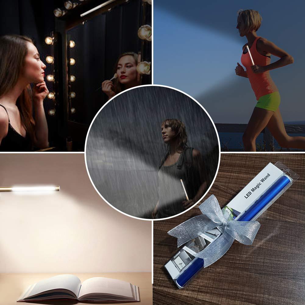 Rechargeable LED Wardrobe Light Stick-on Anywhere Under Cabinet Lighting - Waterproof, Adjustable level brightness,Portable Moving Light (White)