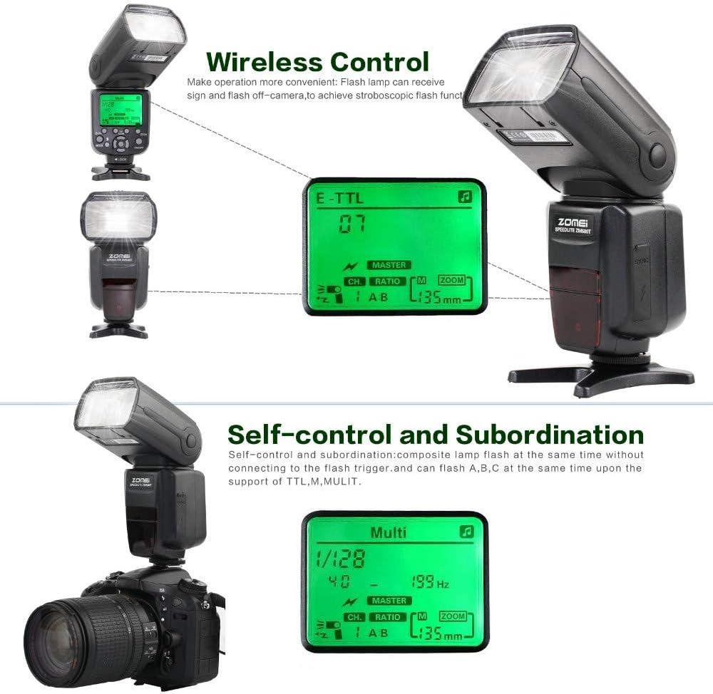 Zomei TTL High Sync Speed Flash Camera Speedlite Flash Light for Nikon DF D90
