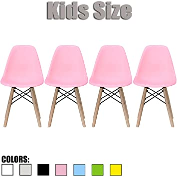 Amazon.com: 2xhome - Set of Four (4) - Pink - Kids Size Eames Side ...