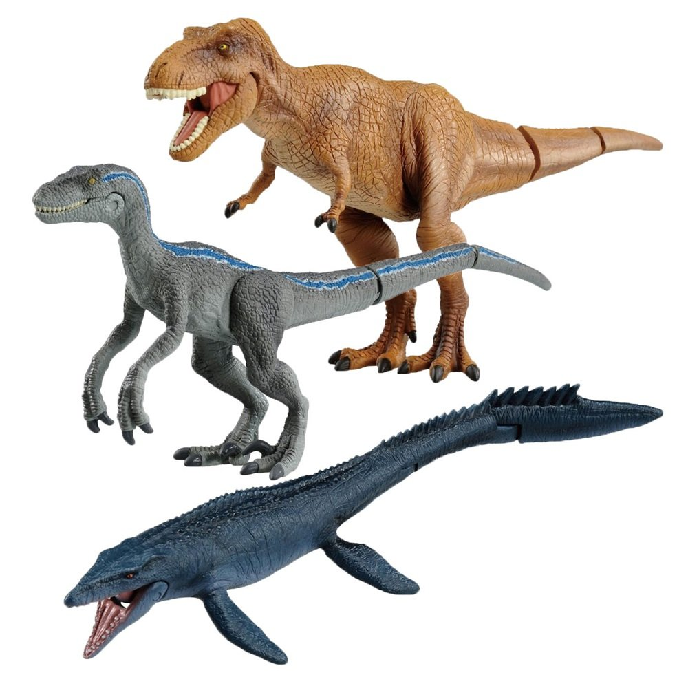 Takara Tomy Academy Jurassic World Fallen Kingdom 5 Mainan Figure Dinosaurus Dino Mini Action 3 Familiar Dinosaurs Set T Rex Blue Raptor Mosasaurus Toys