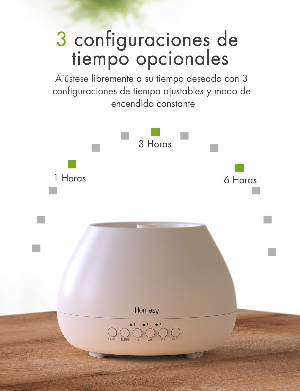 Homasy 500ml Difusor de Aromas, Difusor Aromaterapia con Luz ...