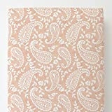 Carousel Designs Peach Paisley Toddler Bed Sheet Fitted