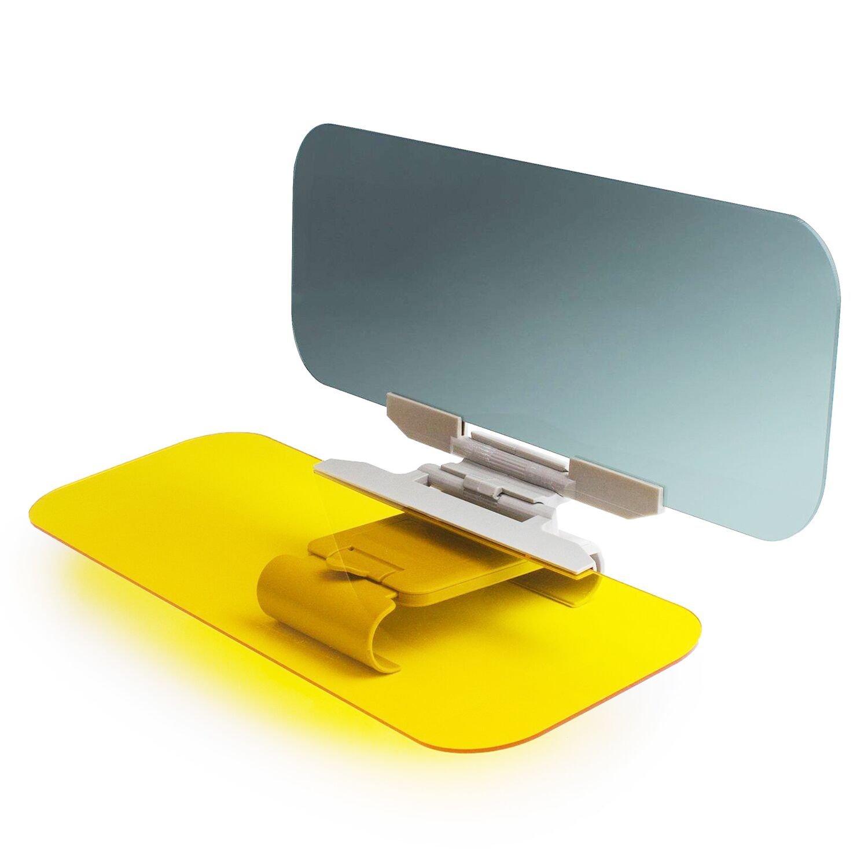 Sun Visor Extender, Tac Visor for Car, 2 in 1 Car Anti-Glare Tinted Windshield Extender Miular