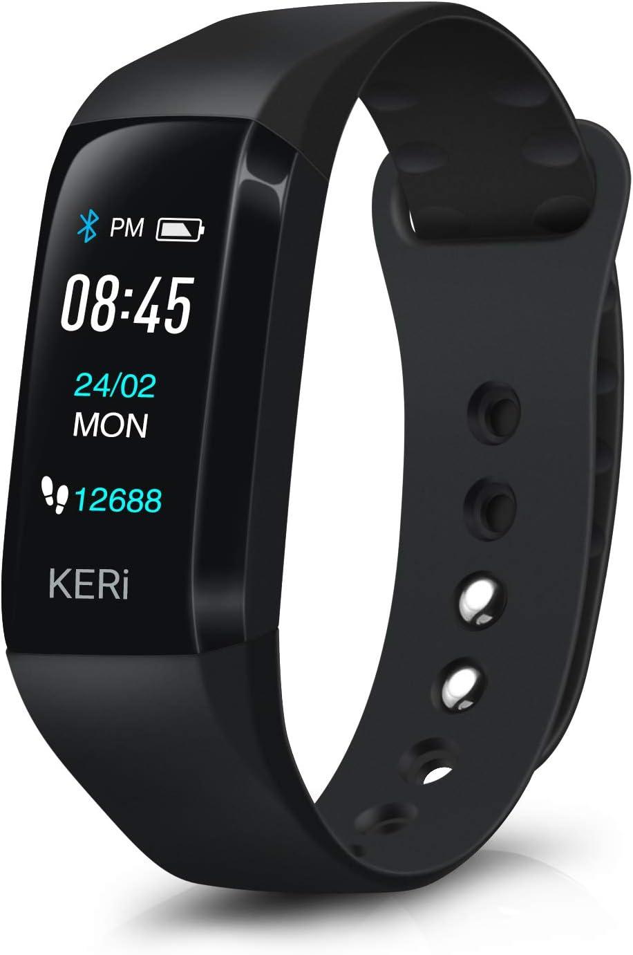 August Audar KERi-Pulsera Inteligente de Salud con Función de Tension Arterial Oxigeno Llamadas y Whatsapp Smartwatch Impermeable Compatible con Android&iOS