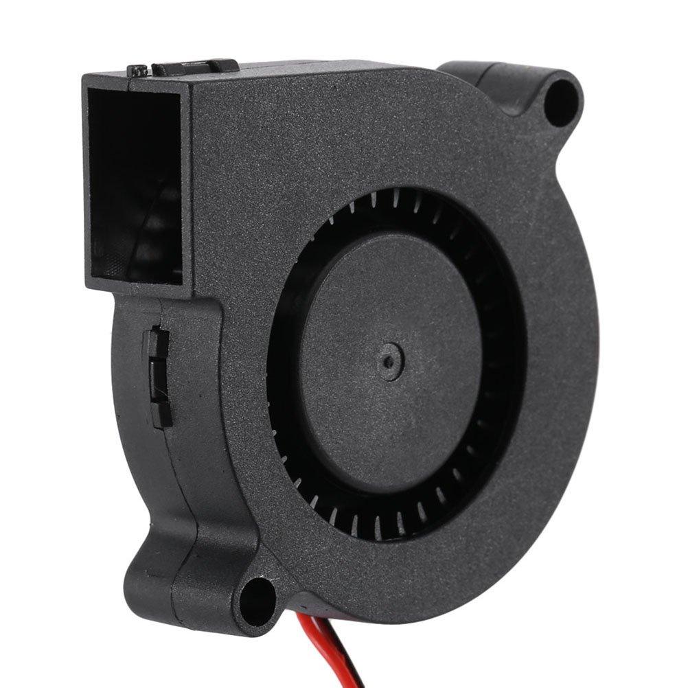 2 Pieces UEETEK 3D Printer Cooling Fan Blower Fan for Cooling Heatsinks 3D Printer Accessory 5015 DC 12V 0.18A