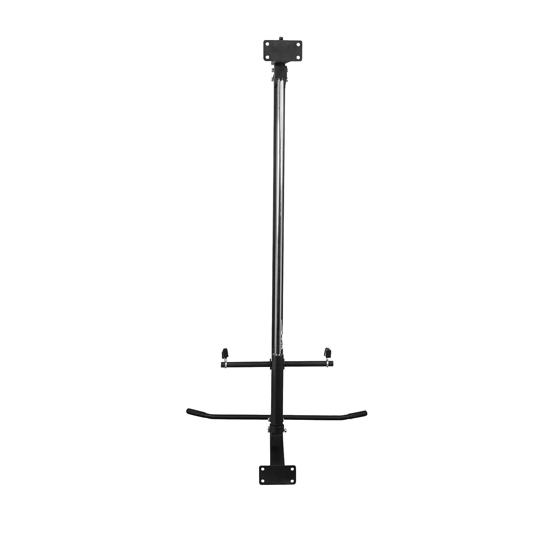 belastbar bis 300 kg GORILLA SPORTS/® Latzug-Turm zur Wandmontage Schwarz