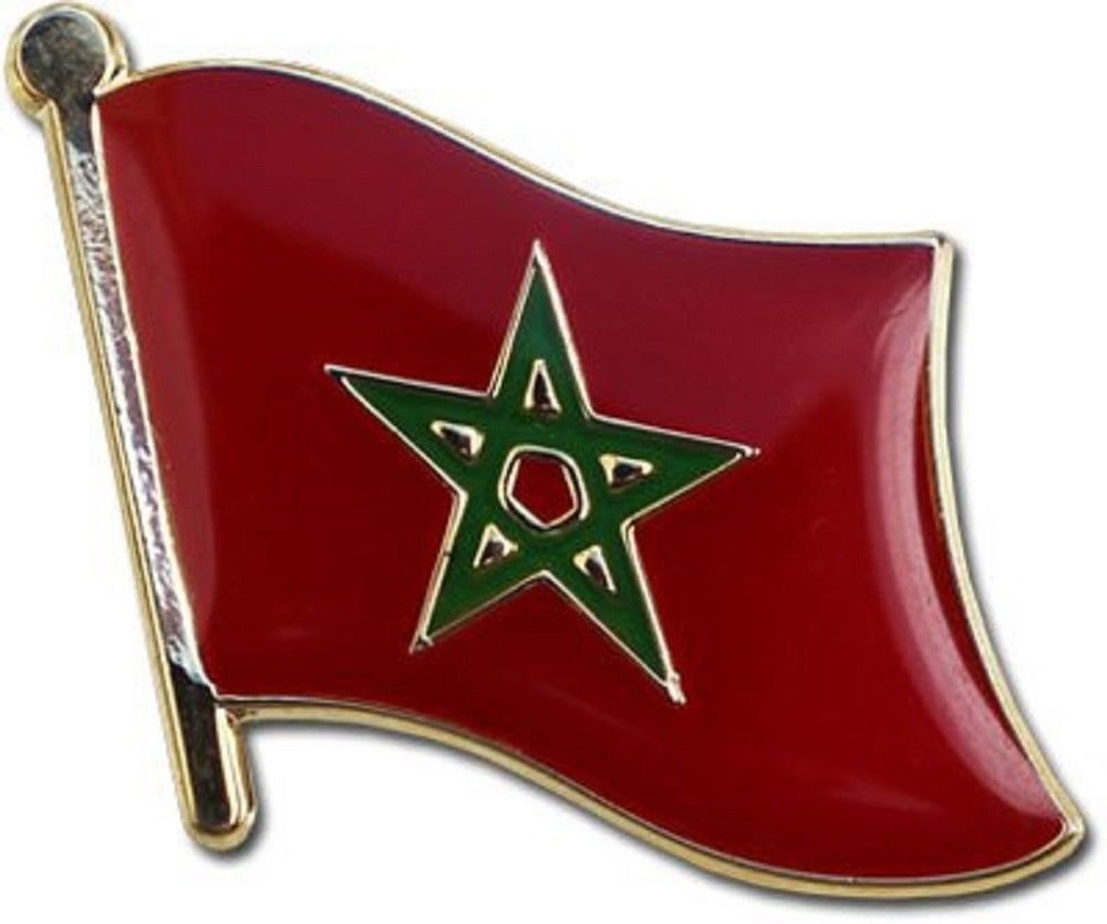 MOROCCO COUNTRY FLAG SMALL LAPEL PIN BADGE ... NEW SUPERDAVES SUPERSTORE