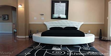 King Size Victoria Leather Round Bed