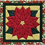 Quilt Magic 12-Inch by 12-Inch Poinsettia Kit