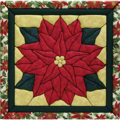 Quilt Magic 12-Inch by 12-Inch Poinsettia Kit by Quilt Magic