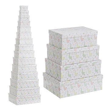 Cajas organizadoras Blancas de cartón Infantiles para decoración Child - LOLAhome: Amazon.es: Hogar