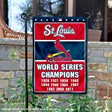 WinCraft St. Louis Cardinals 11-Time World Series Champions Double Sided Garden Flag