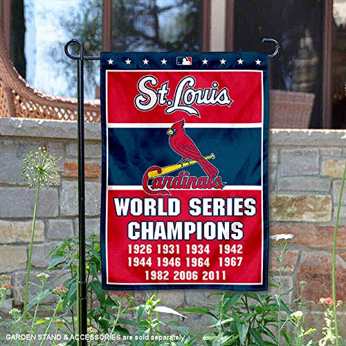 WinCraft St. Louis Cardinals 11-Time World Series Champions Double Sided Garden -