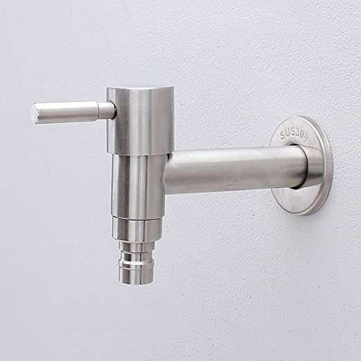 HUIJIN1 llave para lavadora de pared, llave de acero inoxidable ...