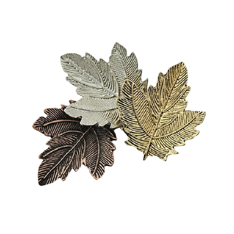 NOUMANDA Exquisite Fashion Three Maple Leaf Retro Collar Pin Brooch