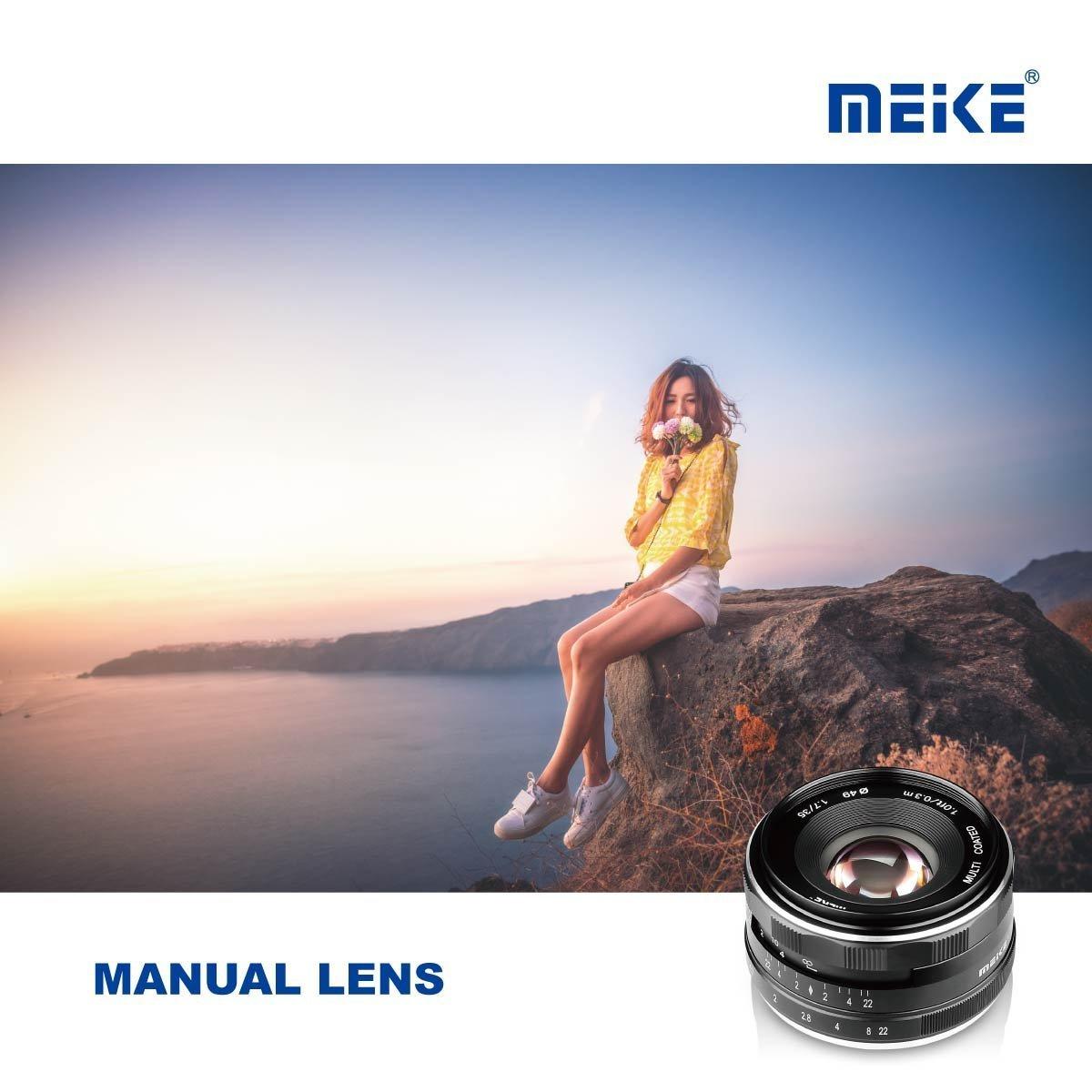 Meike 50mm F2.0 Large Aperture Manual Focus MF Fixed Lens for Sony E Mount A6000 A6100 A5000 A5100 A6300 A6500 NEX 3 3N Mirrorless Cameras