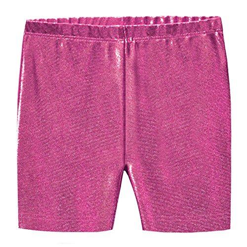 City Threads Girls Underwear Novelty Bike Shorts For Play School Uniform Dance Class and Under Dresses, Sparkly Fuchsia, 4T -