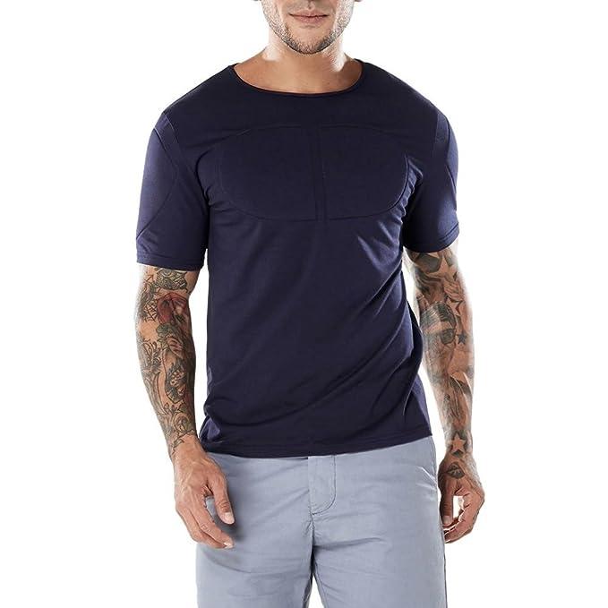 VENMO Camisetas Hombre Camisas Hombre,Casual Slim fit Camisetas Hombre Originales,Camiseta de Manga