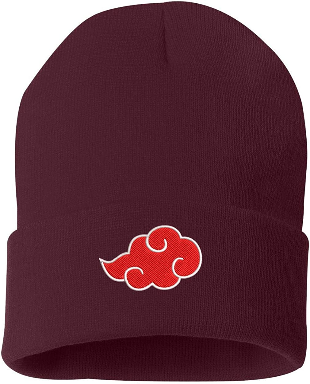 Amazon Com Top Level Apparel Akatsuki Cloud Logo Embroidered Cuffed Knit Winter Unisex Beanie Brown Clothing