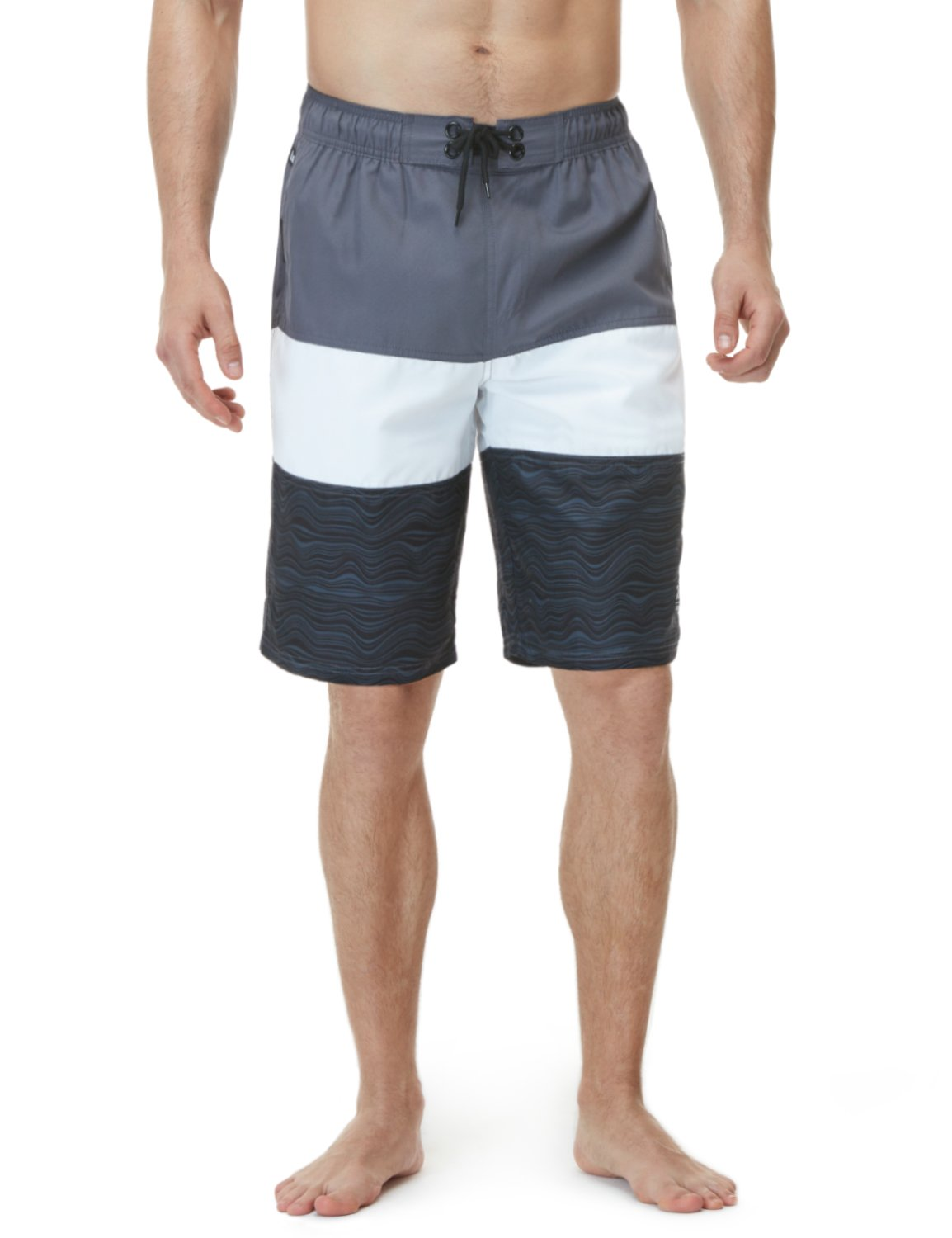 Tesla TM-MSB02-GWD_3X-Large Men's Swim Trunks Quick Dry Water Beach MSB02