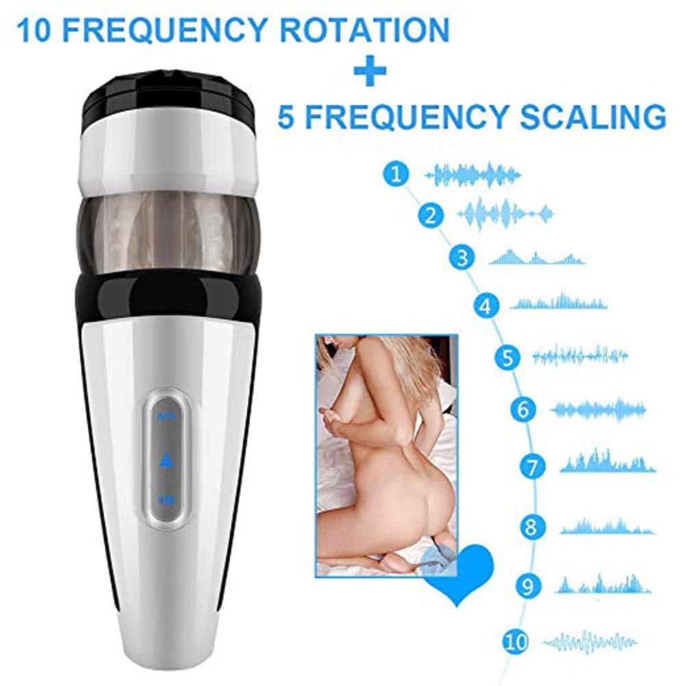 UBIBI 100% High Quality Pure Cordless Stick Handfree Rotating Smart Sucking Cup with 3D Realistic-Stroker with Piston Novelty USB Rechargeable Toys Discreet Package by UBIBI (Image #3)