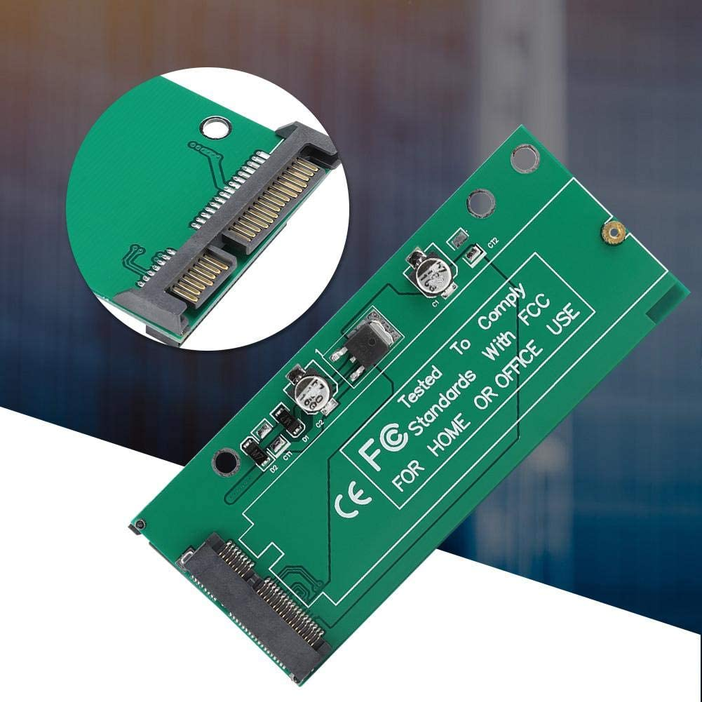 Zopsc Solid State Drive Riser Adapter Card SSD to SATA3 Anti Reverse Insertion 3.3V Conversion Module for ASUS UX21//UX31