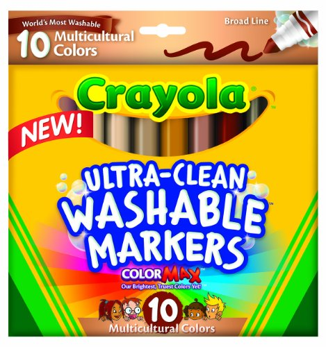 Crayola Ultraclean BL Multicultural Markers (10 - Crayons Multicultural