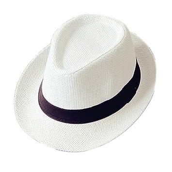 de01de8946c80 Mackur Enfants Bébé Panama Chapeau de paille Chapeau de soleil été Garçon  ou Fille Anti-