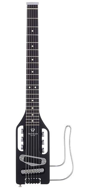 Viajero de la guitarra del ukulele eléctrico Negro 2456 de la guitarra