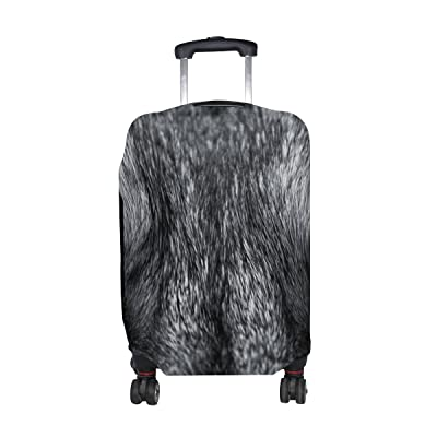 LORVIES Eyes Of Wolf Print Travel Luggage Protective Covers Washable Spandex Baggage Suitcase Cover - Fits 18-32 Inch