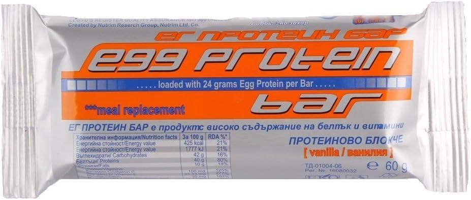 Nutrim Huevo Barritas De Proteínas 15x60g Vainilla Sabor 24g ...