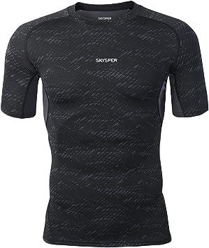 Compression Hommes Vélo T-Shirt De Sport Course Gym Manches Courtes Tops T-shirt Vêtements