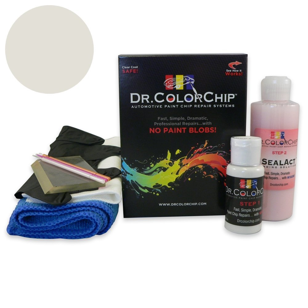 Dr. ColorChip BMW 3 Series Automobile Paint - Mineral White Metallic Tricoat A96 - Squirt-n-Squeegee Kit by Dr. ColorChip (Image #1)