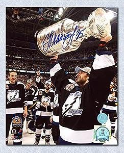 Nikolai Khabibulin Tampa Bay Lightning Autographed 2004 Stanley Cup 8x10 Photo