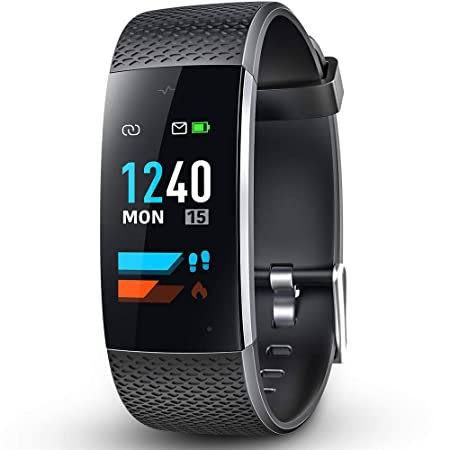 DR.VIVA Fitness Tracker Watch, Exercise Bands Sports Watch Heart Rate Monitor Wrist Smart Bracelet Touch Screen Pedometer Watch Compatible with Android and iOS Phones