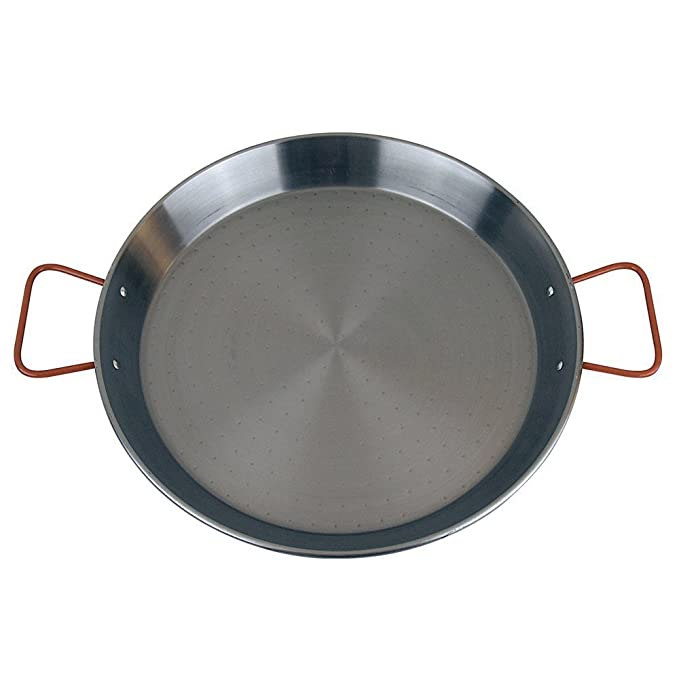 MageFesa Carbon Steel Paella Pan, 12 Inch