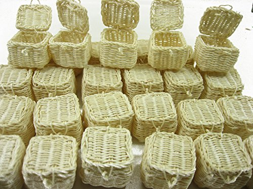 Wholesale 30 Picnic Wicker Baskets Dollhouse Miniatures Handmade Supply 13398 -