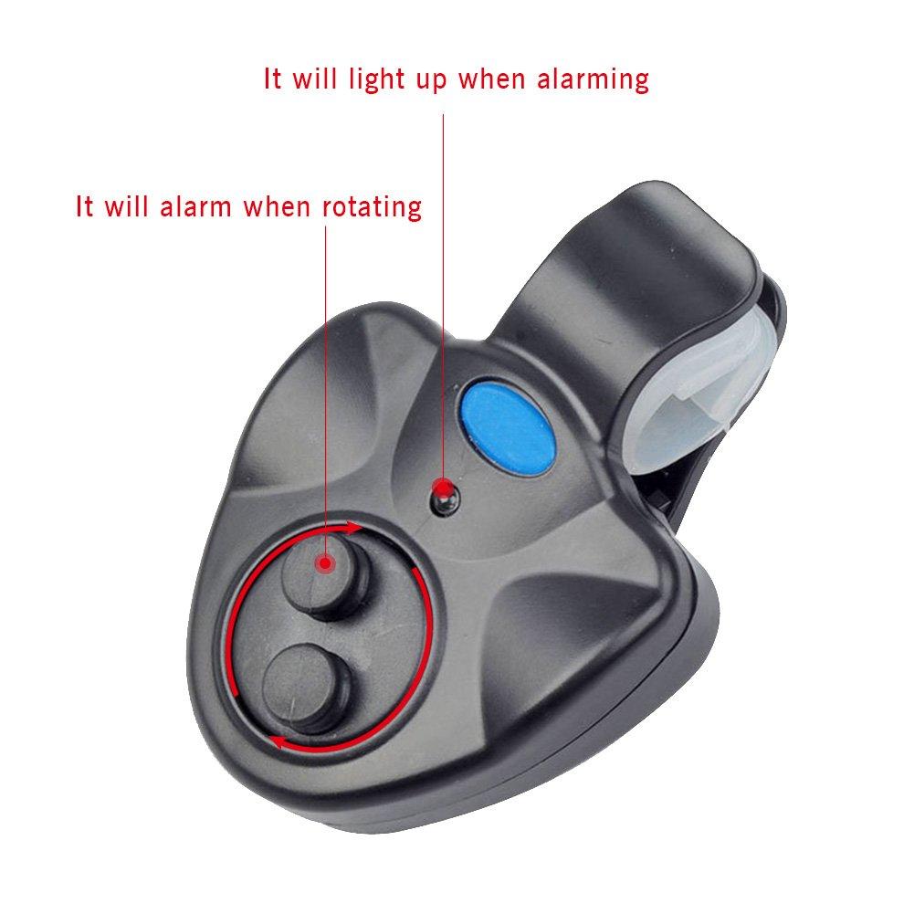 Elektronische Hochempfindliche LED Licht Fisch Biss Angeln Alarmanzeige Glocke