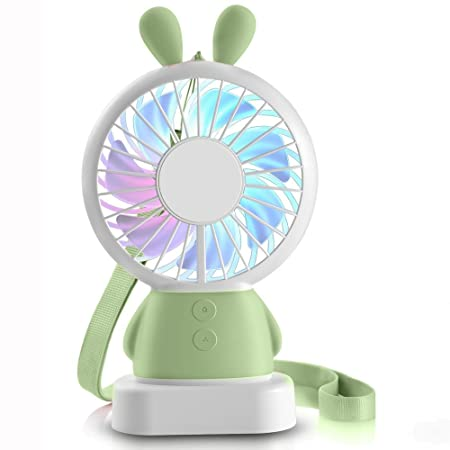 Small Air Conditioning Appliances Portable Handheld Fan Summer Home Small Fan Cute Cartoon Bear Usb Charging Fan Study Table Lamp Fan Discounts Price