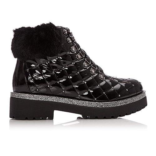 Moda In Pelle Berrina Black Patent  Amazon.co.uk  Shoes   Bags a8d47b3599423