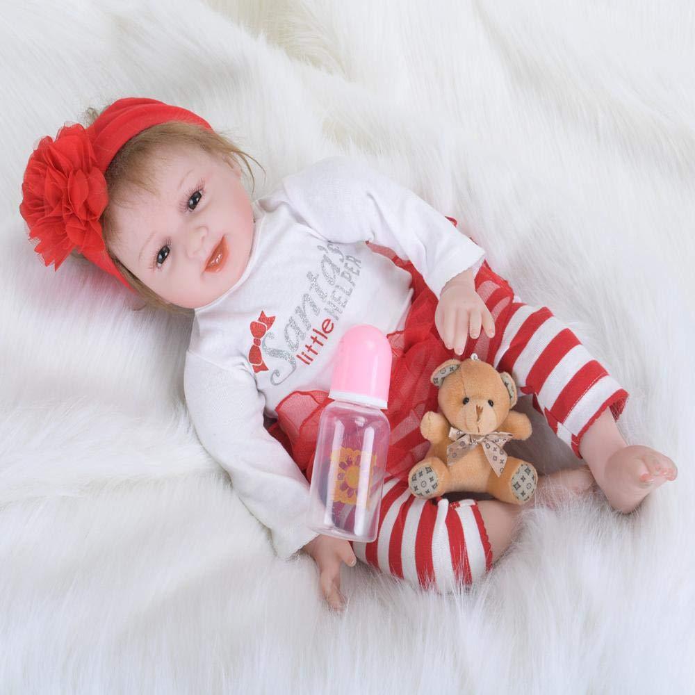 tienda en linea SONGXM Hecho a Mano 22 pulgadas es de unos 55 55 55 cm Reborn Bebe Muñecas Realista Vinilo Silicona Girl Recién Nacido Baby Dolls Cumpleaños Regalos Navidad Juguetes  Con 100% de calidad y servicio de% 100.