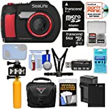 SeaLife DC2000 HD Underwater Digital Camera with 64GB Card + Battery & Charger + Diving LED Light + Buoy + Case + Chest Mount Kit
