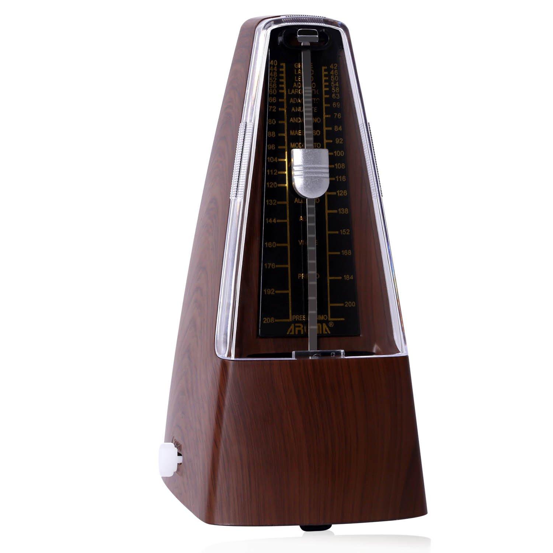 CAHAYA Métronome Mécanique Traditionnel avec Sonnerie pour Piano, Guitare, Tambour, Violon et d'autres Instruments de Musique, Noir CY0060-1