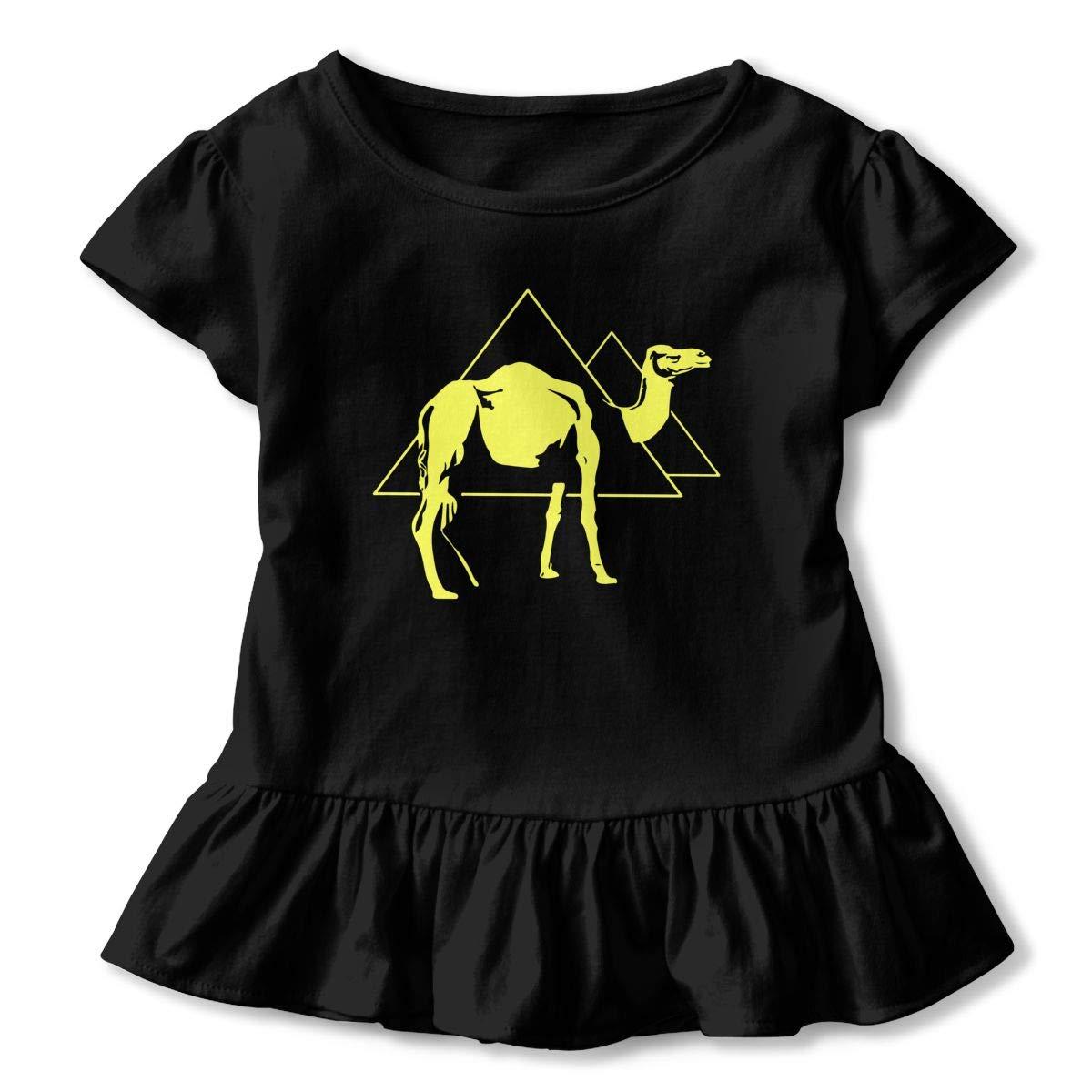 Desert Camel Nights Cute Short Sleeve Clothes for Boy Girl Dress Cotton T-Shirt Unique Bodysuit Romper,One-Piece Jumpsuit