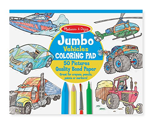 Melissa & Doug Jumbo Coloring Pad: Vehicles - 50 Pages of Wh